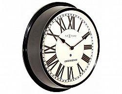 Designové nástěnné hodiny 3129zw Nextime Amsterdam 41cm
