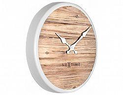 Designové nástěnné hodiny 3133wi Nextime Plank 30cm