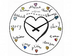 Designové nástěnné hodiny 3160 Nextime Loving You Dome 35cm
