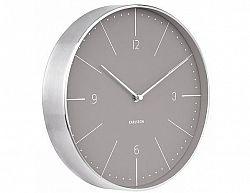 Designové nástěnné hodiny 5682GY Karlsson 28cm
