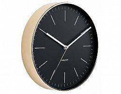 Designové nástěnné hodiny 5695BK Karlsson 28cm