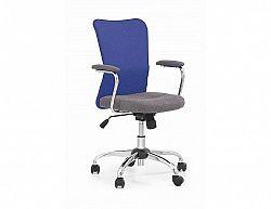 Dětská židle Andy modro-šedá