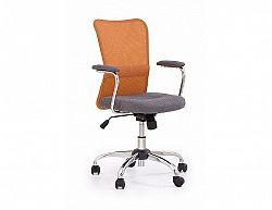 Dětská židle Andy oranžovo-šedá
