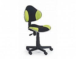 Dětská židle Flash černo-zelená
