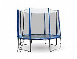 GoodJump 4UPVC modrá trampolína 366 cm s ochrannou sítí + žebřík