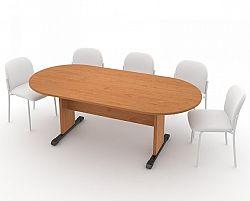 Jednací stůl - oválný 210 cm, olše