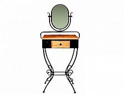Kovaná toaletka se zásuvkou a zrcadlem MALAGA 0443