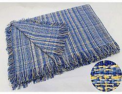 Modrý přehoz Rustika 230x260 cm