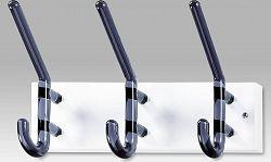 Nástěnný věšák - 3 háčky, bílý kov, kouřové akrylátové háčky GC3856-3 WT Art