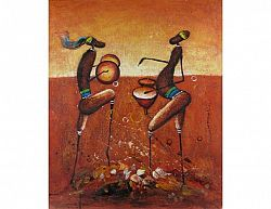 Obraz - Afričtí hudebníci