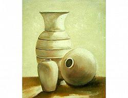 Obraz - Bílé vázy