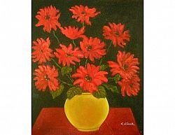 Obraz - Kytice rudých květů ve váze
