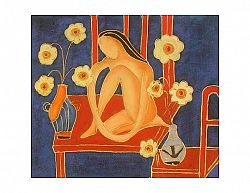Obraz - Žena v květech