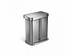 Odpadkový koš Simplehuman 58 l, stříbrný