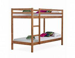 Patrová postel Dekle, borovice / světlehnědá