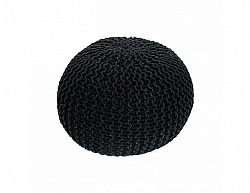 Pletený taburet, černá bavlna, GOBI TYP 2
