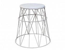Příruční stolek Loyer, bílá