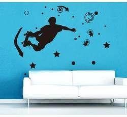 Samolepící dekorace na zeď - Skate a pohyb - Nalepovací tabule
