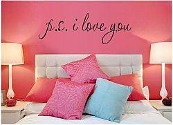 Samolepka na zeď i love you - nalepimeto