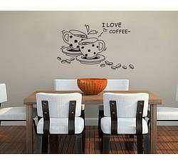 Samolepky na zeď - I love Coffee - Nalepovací tabule