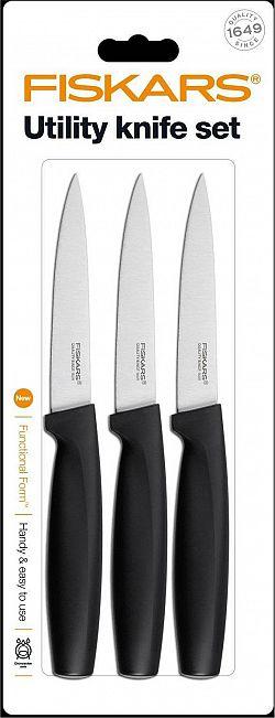 Set 3 univerzálních nožů, černé 1014276 Fiskars