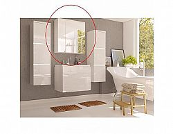 Skříňka se zrcadlem MASON WH14, bílá / bílý HG