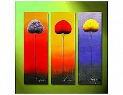 Vícedílné obrazy - Barevné stromy