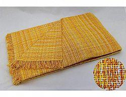 Žlutý přehoz Rustika 125x180 cm