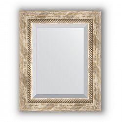 Zrcadlo s fazetou 53x73 cm, provensálský dekor s krouceným detailem