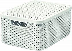 CURVER Košík box s víkem - M - krémový R41118