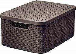 CURVER Košík box s víkem - M - tm. hnědý R41117