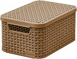 CURVER Košík box s víkem - S - mocha R41116