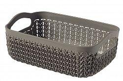 CURVER R54126 KNIT Polyratanový košíček A6 - hnědý