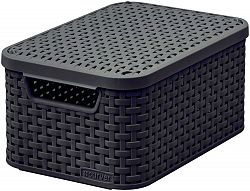 CURVER RATTAN Úložný box Style s víkem - 2 l, hnědý