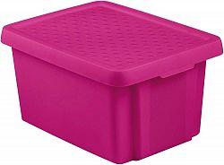 CURVER Úložný box s víkem 16L - fialový R41135