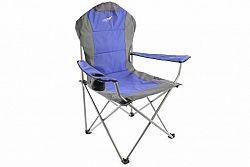 Divero 35087  Skládací kempingová rybářská židle Deluxe - modro/šedá