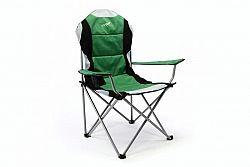 Divero 35116 Skládací kempingová rybářská židle Deluxe - zeleno/černá