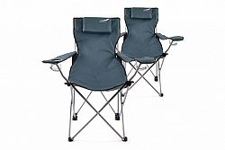 Divero 35954 Kempingová sada 2 ks skládacích židlí - modrá