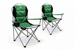 Divero 35957 Sada 2 ks skládací kempingová rybářská židle Deluxe - zeleno/černá
