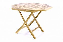 Divero 47268 Skládací stolek - týkové dřevo - 100 cm