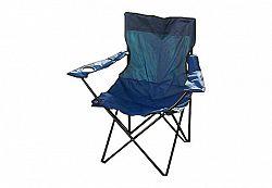 Divero 531 Skládací židle s držákem nápojů - modrá