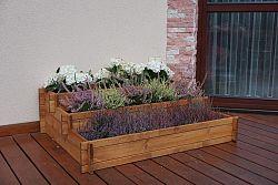 Dřevěný exkluzivní květináč kaskádovitý ZAHRÁDKA
