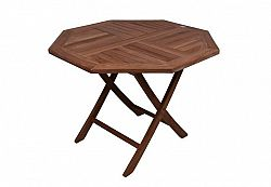 Garthen 2148 Skládací zahradní stolek z týkového dřeva, Ø 100 cm