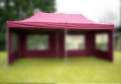 Garthen 2671 Náhradní střecha k party stanu 3 x 6 m, vínová