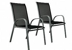 Garthen 29330 Sada 2x zahradní židle stohovatelná - s vysokým opěradlem