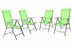 Garthen 36001 Sada 4 kusů hliníková skládací židle Garth - zelená
