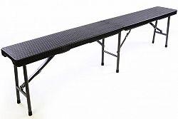 Garthen 37105 Skládací zahradní lavice v ratanovém designu - 180 x 25 cm