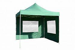 Garthen 377 Zahradní párty stan nůžkový PROFI 3x3 m zelený + 2 boční stěny