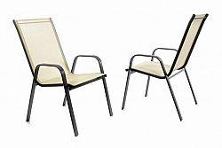 Garthen 40761 Zahradní sada 2 x stohovatelná židle balkonová - krémová