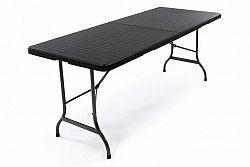 Garthen 43773 Zahradní skládací stůl v ratanovém vzhledu- 180 x 75 cm
